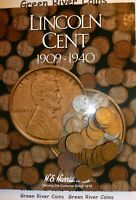 1909 1940 Lincoln Cent Starter Collection #LCN New Harris Coin Folder With Coins