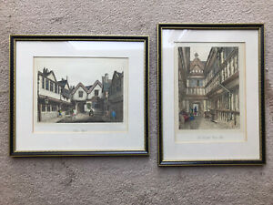Pair Of Vintage Antique 150-Year-Old Engravings - Full Provenance On Back