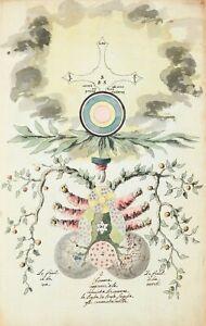 """Alchemical Illustration : """"Omnia ab Uno Natura Prima Materia"""" — Fine Art Print"""
