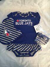 Toronto Blue Jays NEW 18M Toddler Girl Romper Set . MLB Baseball Cute Dress Gift