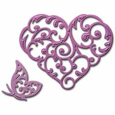 SPELLBINDERS HEART AND FLUTTER CUTTING DIE D-LITES - NEW 2015