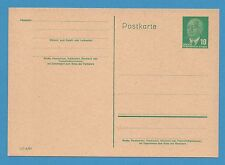 1950's GERMANY Stationery Postcard UNUSED green 10pf