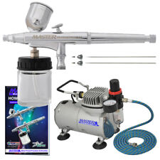 Master Airbrush .2.3.5mm Pro Sidecup Airbrush With ABD TC-20 Compressor