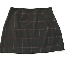 Vintage 90's The Limited Skirt Womens Size 12 Wool Mini Plaid Grunge