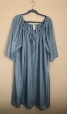 Cw Classics Women's Light Blue Semi Sheer Night Gown Size 3X New