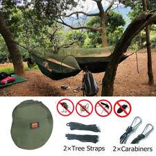 Durable Outdoor Camping Tent Hanging Hammock Bed & Mosquito Net Sleeping Gear