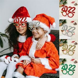 Merry Christmas 2022 Glasses Frame Props for Kid Xmas Gift Party Toy Decor✅