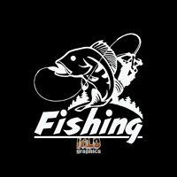 FISHING vinyl Sticker Fishing Sportsman Car Truck Boat Window FISHERMAN Lure