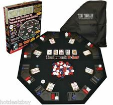 Folding Poker Table Top Texas Holdem Chip Playing Cards Cover Casino Black Jack
