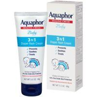 Aquaphor Baby Diaper Rash Cream 3.5 Ounce Prevents Soothes Treats