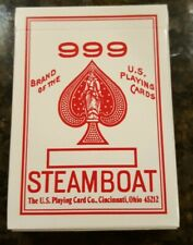Vintage 999 Steamboat Playing Cards Vintage Deck 52 Cards. Factory Sealed.