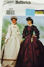 New Victorian Dress Pattern Women Misses Butterick 6694 Adult 6 8 10