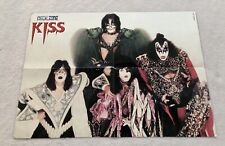 KISS Poster 1980s 1990s Swedish Magazine Metal Zone Vintage Rare