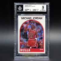 1989-90 Hoops Michael Jordan Blank Back Error Card Pop 1 BGS 9 Chicago Bulls SSP