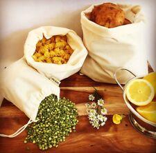 Reusable Cotton Produce Bags - 5 Pack