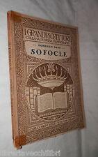 SOFOCLE Domenico Bassi Signorelli 1929 Classici Greci Scrittori Biografia di e