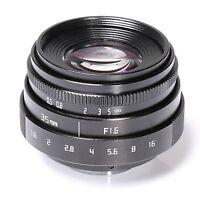 FUJIAN 35mm f1.6 C mount CCTV Lens II for N1 Fujifilm Fuji NEX Micro 4/3 EOS B