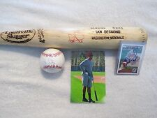 IAN DESMOND~BASEBALL~BAT~BALL~CARD~PLAYER~GAME~USED~SIGNED~AUTO~AUTHENTIC~MLB