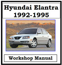 HYUNDAI ELANTRA / LANTRA 1992-1995 WORKSHOP MANUAL DIGITAL  DOWNLOAD