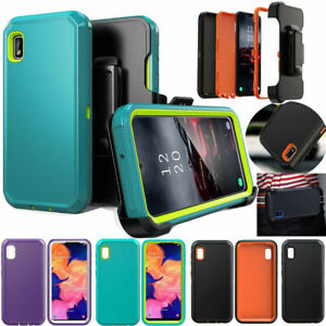 For Samsung Galaxy A10e Heavy Duty Case Cover with Kickstand Swivel Belt Clip