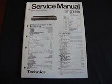 ORIGINALI service manual TECHNICS st-gt350