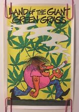 Original Vintage Poster Land Of The Giant Green Grass Marijuana Blacklight 1970s