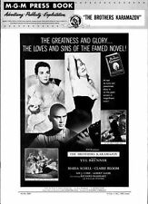 THE BROTHERS KARAMAZOV pressbook, Yul Brynner, Maria Schell, Claire Bloom