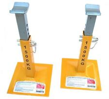 PAIR STANFRED TWIN PIN TYPE 1500KG VEHICLE SAFETY SUPPORT AXLE JACK STANDS