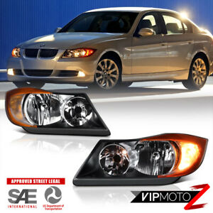 [Pair] 2006 2007 2008 BMW E90 Factory Style Headlights Headlamps 325 328 330 335