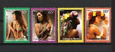 POLYNESIE FRANCAISE (1998) (4V **MNH) - COSTUMES FOLKLORE FLEURS & COQUILLAGES