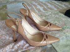 Jimmy Choo Women's 100% Leather Slingbacks Stiletto Shoes