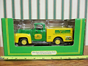 John Deere 20 Series Tractors 1956 Ford Pickup Bank By Ertl 1/25th Scale
