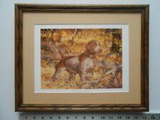 Robert Abbett German Shorthaired Pointer framed 11X14 4.0wfc5002