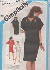 Simplicity 6215 Misses Designer Dress 2 Styles Size 10 - 14