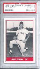 1982 TCMA Oneonta Yankees Baseball John Elway Rookie Card PSA 8 Minor League