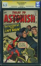 Tales to Astonish #35 CGC 6.5 FN+ Marvel 2nd Ant-Man Stan Lee Signed OW Pages