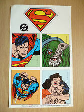 DC COMIC SUPERMAN- A DRAMATIC THE DEATH OF SUPERMAN 5 STICKERS