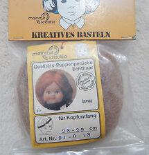 Puppenperücke von Meinesz ECHTHAAR Langhaar KU ca. 28-29 cm - rotblond