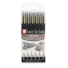 Sakura Pigma Micron 6 Drawing Pen Set. Artists Illustration Design Pens.