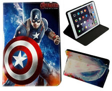 For iPad Air 1-2 & iPad Pro 9.7 2017 Marvel DC Captain America Smart Case Cover