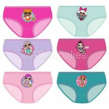 afcefb39b4f7 Girls Childrens LOL Surprise Knickers Briefs Pants Underwear 3 Pack Aged 4-10  Ys