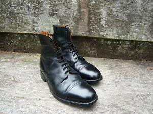 JOSEPH CHEANEY VINTAGE GENTLEMEN'S CAP-TOE ANKLE BOOTS  – BLACK – UK 8 – EX.COND
