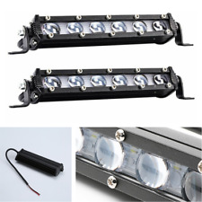 Aluminum 2Pcs 8inch 120W Spot Beam Slim LED Work Light Bar Single Row Car Lamps