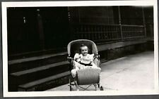 PHOTOGRAPH 1928 WICKER BABY CARRIAGE HARNESS PHILADELPHIA PENNSYLVANIA OLD PHOTO