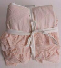 New Pottery Barn Kids Organic Sadie Ruffle crib skirt, blush pink