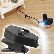 2X Adjustable LED Glasses Spot Light Clip On Eyeglass Lamp Reading Night Light
