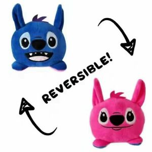 Reversible Stitch Plush Toy Double Sided Flip Stuffed Figure Doll Toys Kids Gift