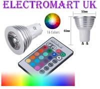 3W GU10 LED REMOTE CONTROL RGB 16 COLOUR CHANGE CHANGING LIGHT BULB LAMP