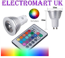 3W GU10 LED REMOTE CONTROL RGB 16 COLOUR CHANGE CHANGING LIGHT BULB LAMP