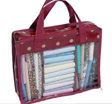 Fat Quarter Quilters Storage Bag Mini for fabric in red spot pattern